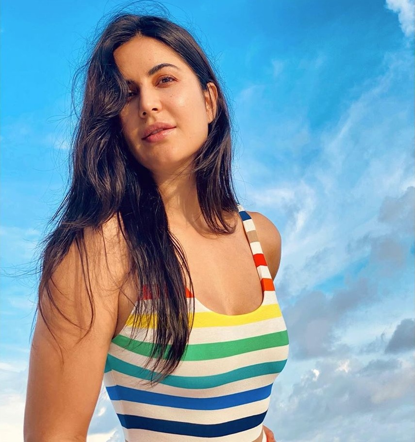 Katrina Kaif did a photoshoot on the beach in a colorful outfit