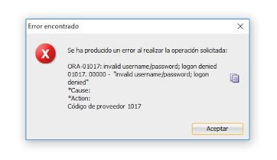 Error PLSQL