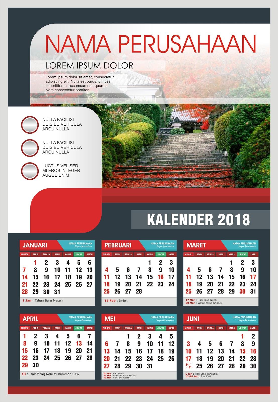 KALENDER 2018 FORMAT cdr.X4