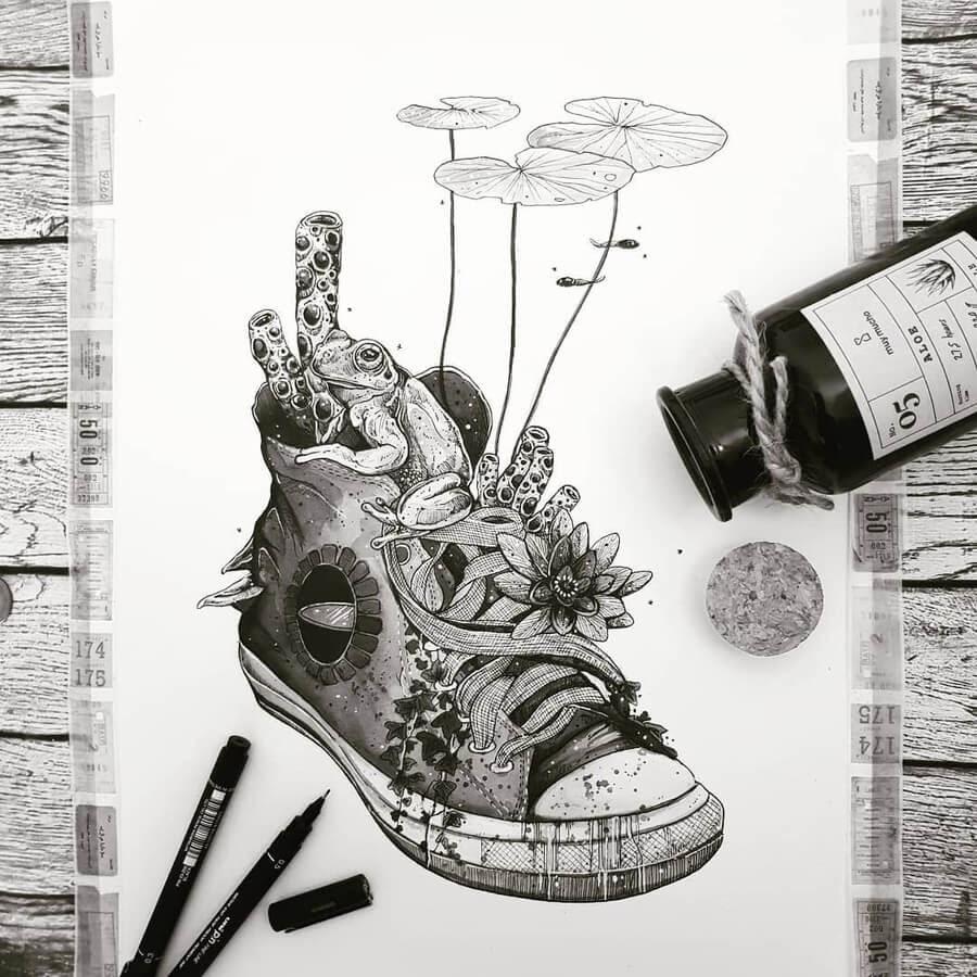 08-Shoes-Inktober-2020-Juan-Velilla-www-designstack-co