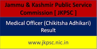 JKPSC Medical Officer Result  2020, JKPSC MO Result Date 2020, JKPSC Medical Officer Cut off Marks & Merit List