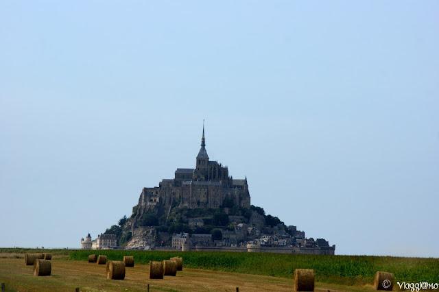 Vista spettacolare sull'isolotto di Mont Saint Michel