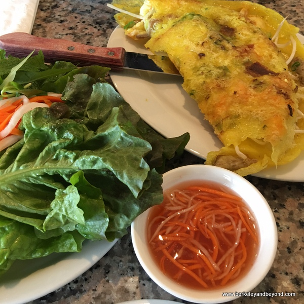 Vietnamese crispy pork-and-shrimp pancake at Huong Tra in Richmond, California