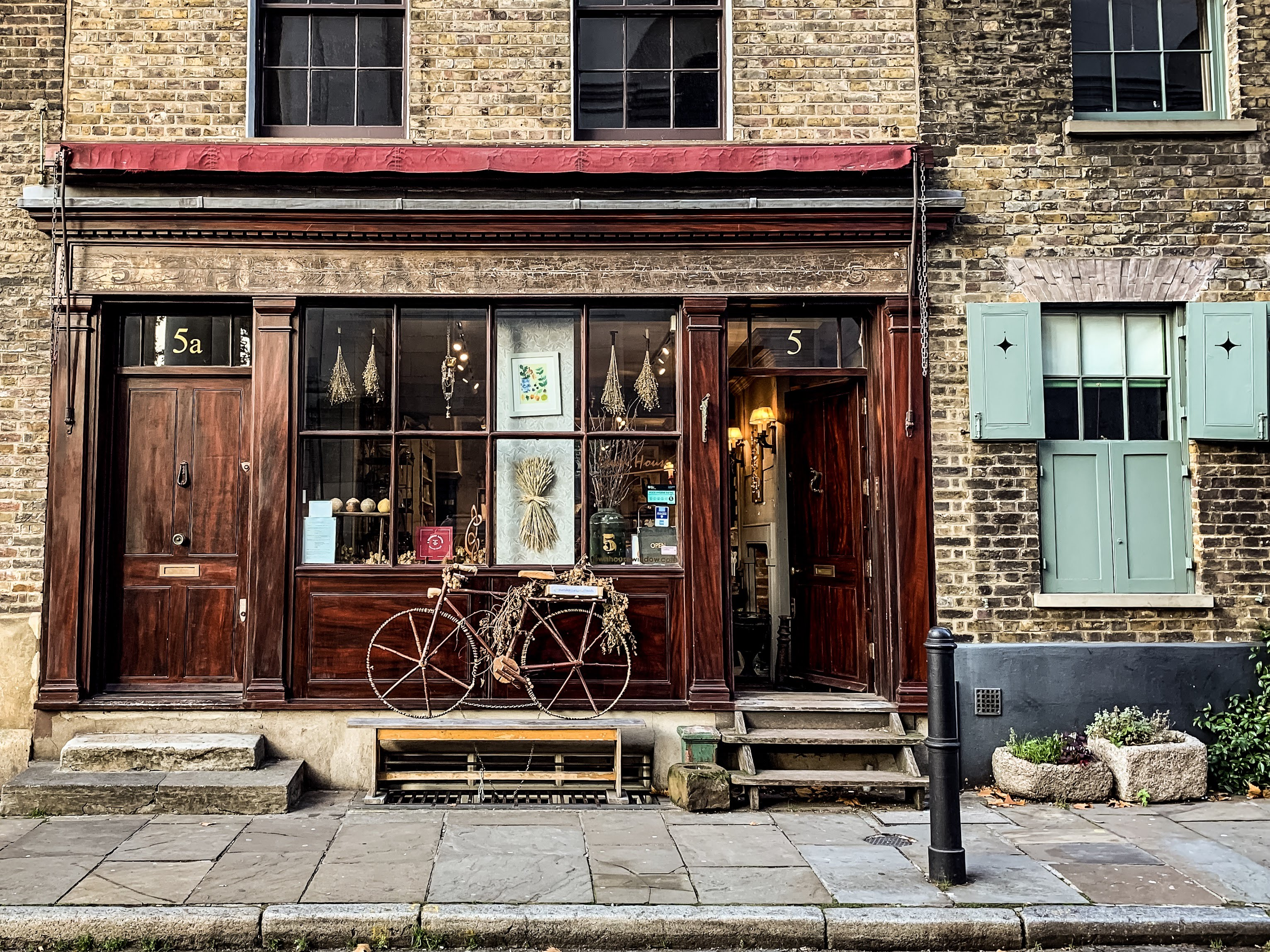 Bicycle outside of a shop, philomena's online gift boutique mandy charlton