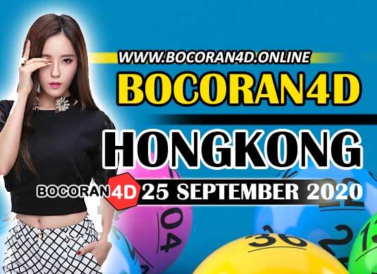 Bocoran 4D HK 25 September 2020