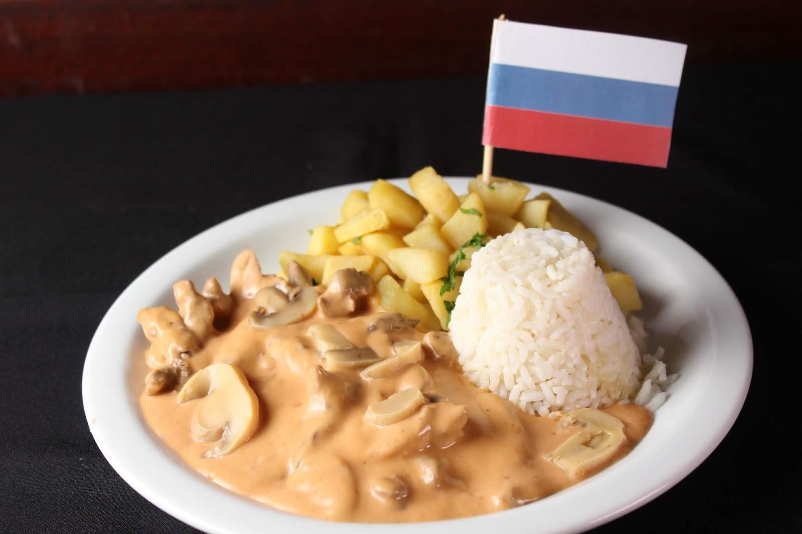No Boteco do Manolo o estrogonofe de carne, famoso prato na Rússia, não poderia faltar. Crédito: SindRio