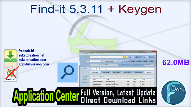 Find-it 5.3.11 + Keygen