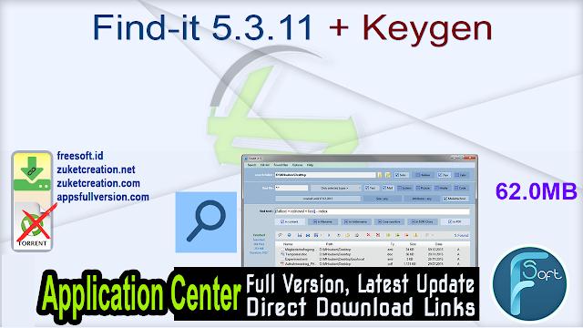 Find-it 5.3.11 + Keygen