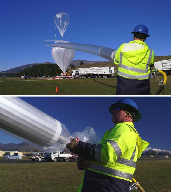Funcionário Alec Beange precisou de 2 horas e 8 minutos para inflar o Super Balão de 532.000 metros cúbicos