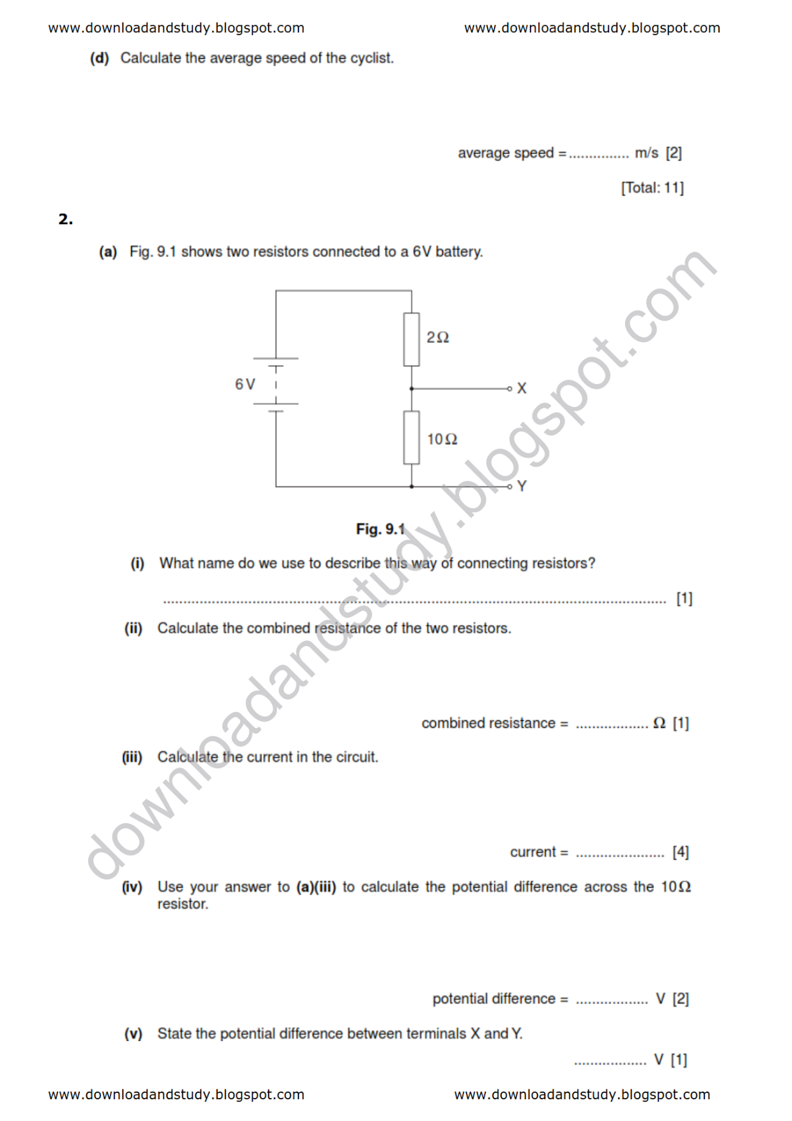 Download Amp Study Igcse Physics Test Worksheet