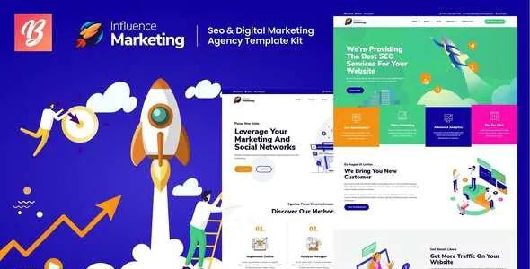 Best SEO & Digital Agency Elementor Template Kit
