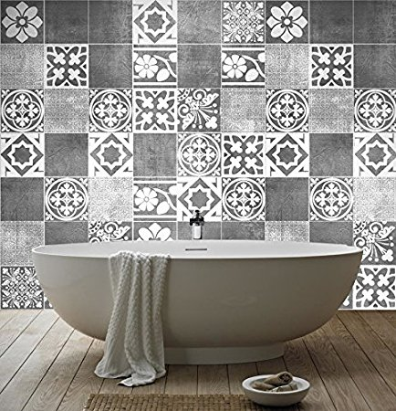 rev tement mural salle de bain carrelage peinture adh sif stickers maison inspiration. Black Bedroom Furniture Sets. Home Design Ideas