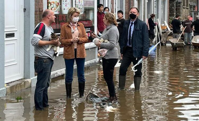 Bad weather has been affecting the Germany-Belgium-Netherlands region for about two days