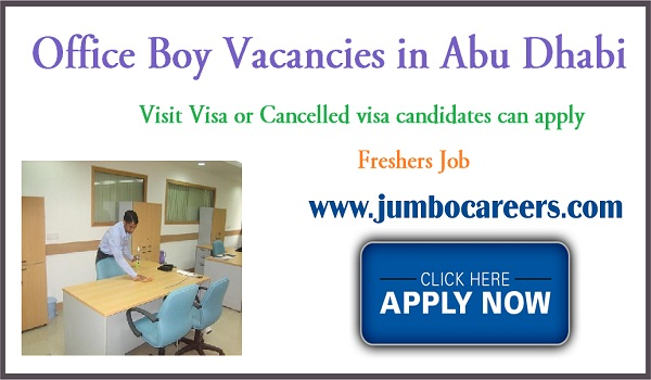 Office job listing in Abu Dhabi, UAE jobs with salary, Male jobs in UAE,