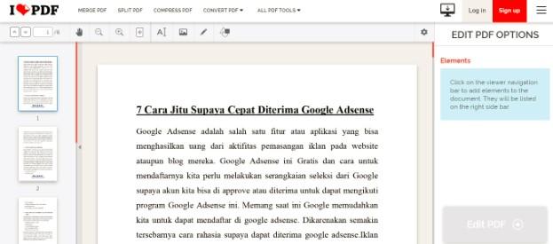 Cara Edit File PDF Online Tanpa Menggunakan Aplikasi