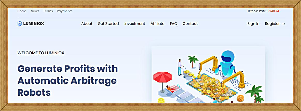 Мошеннический сайт luminiox.com – Отзывы, развод, платит или лохотрон?