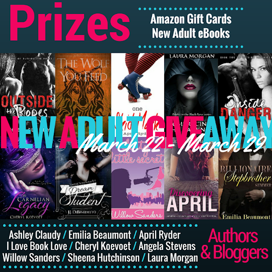 New Adult Giveaway (win $10 Amazon Gift Cards or eBooks)