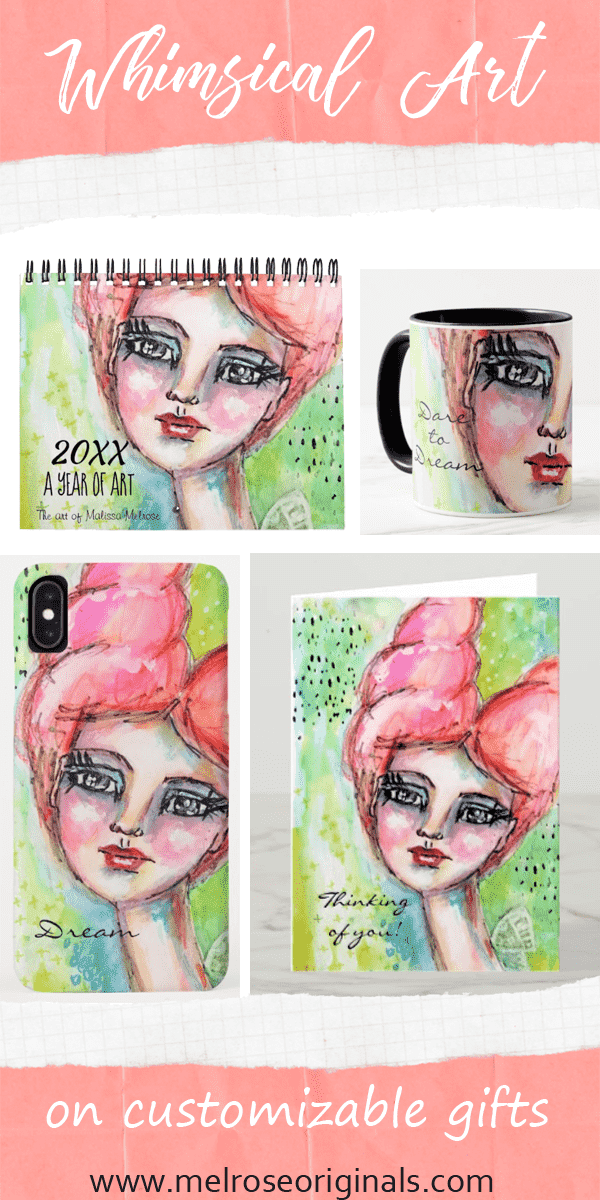 pinnable product grid of products from the dream collection whimsical art gifts