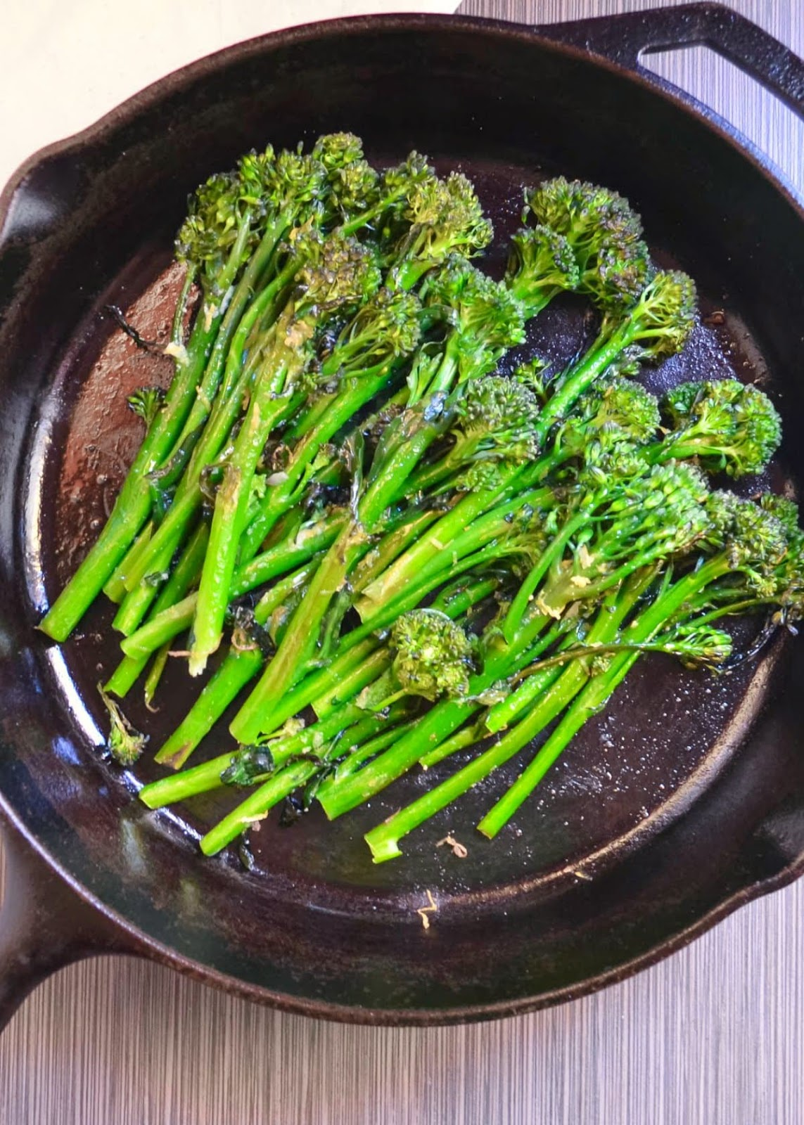 Broccolini is a favorite quick side dish recipe that's oven roasted with garlic and lemon for a delicious flavor from Serena Bakes Simply From Scratch.