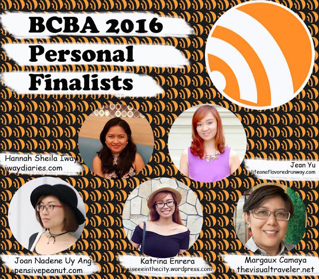 BCBA2016 Finalists of Personal Niche