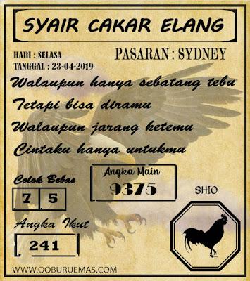 Syair SYDNEY,25-04-2019