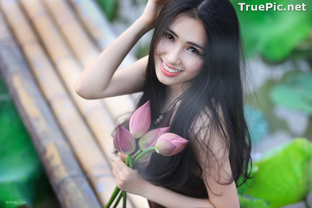 Image Vietnamese Model - Hong Rubyshi - Beauty Girl and Lotus Flower #1 - TruePic.net - Picture-2
