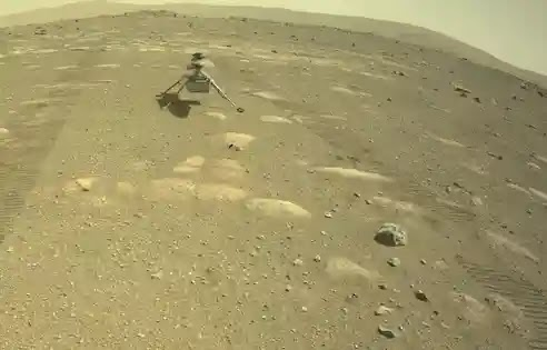 """The first test flight of a """"small helicopter"""" on Mars was successful"""