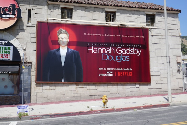 Hannah Gadsby Douglas comedy special billboard