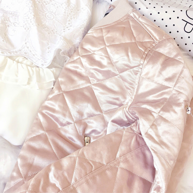 Topshop | Quilted Bomber Jacket