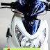 Sơn xe Suzuki Hayate màu trắng xanh tiger cực đẹp