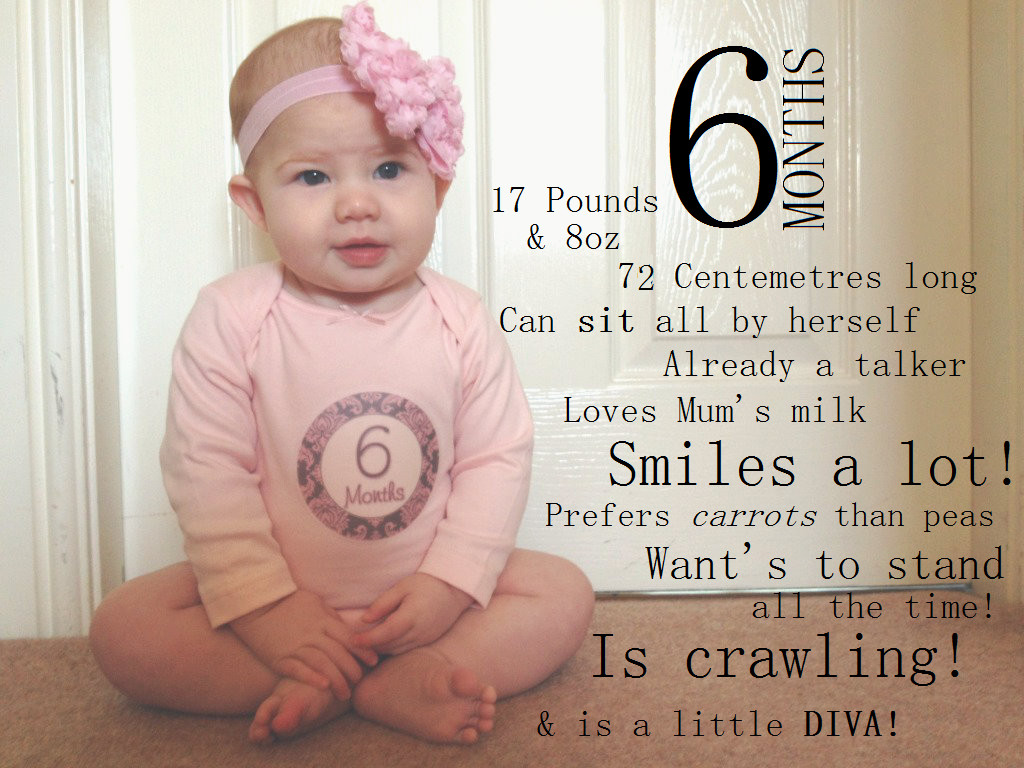 Happy 6 Months Baby Quotes Quotesgram