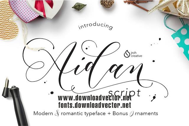 Download Aidan Romantic Script Font
