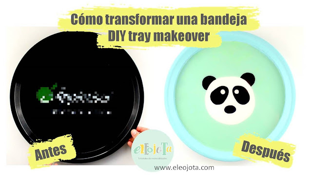 diy tray makeover transforma una bandeja