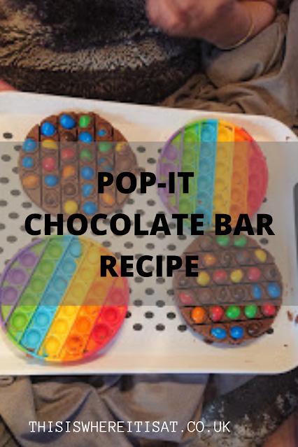 Pop-it chocolate bar recipe.