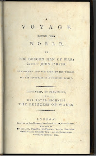 Title page to Voyage Round the World, 1795