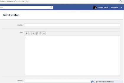 Kelebihan dan kekurangan Menulis di Catatan Facebook