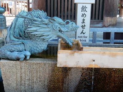 清水寺梟の手水鉢