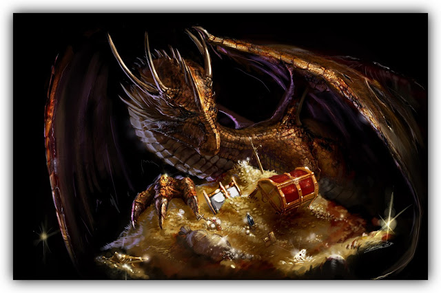 Dragon with Treasure Hoard