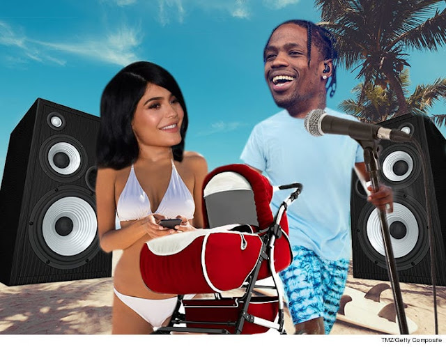 TRAVIS SCOTT & KYLIE JENNER FAMILY R&R IN HAWAII ... New Album in Works!!!