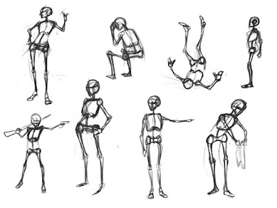 Mannequin Drawings (Line and Gesture) and Some New Art for Digital Fundementals