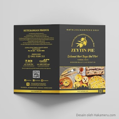 Desain Katalog Hampers Idul Fitri Zeytin Pie