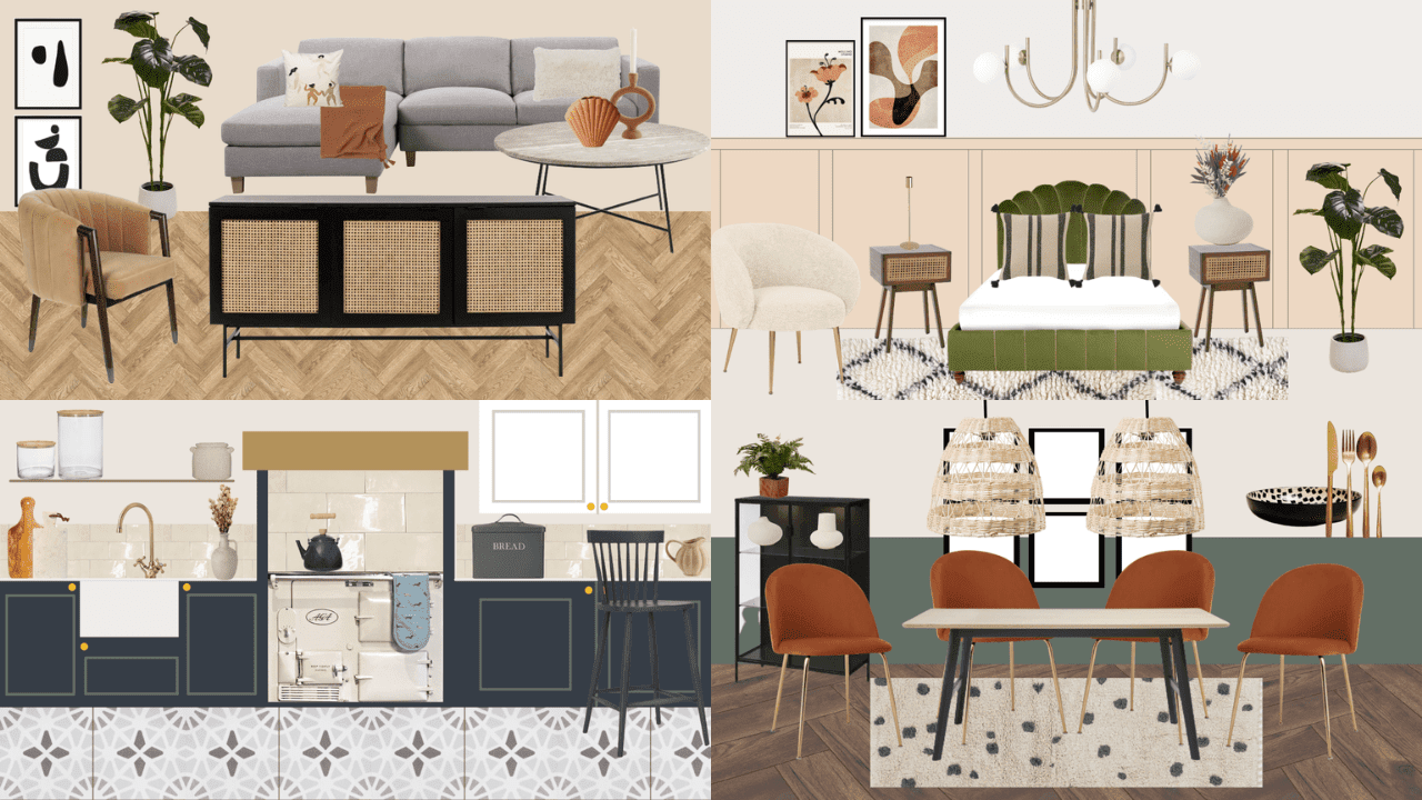 How I would style my dream forever home - inspirational interior style for kitchens, living and dining rooms and bathrooms. Home decor inspiration