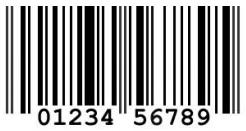 Barcode jenis UPC