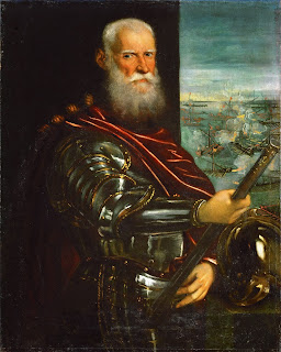 Jacopo Tintoretto's portrait of Sebastiano Venier at the Battle of Lepanto