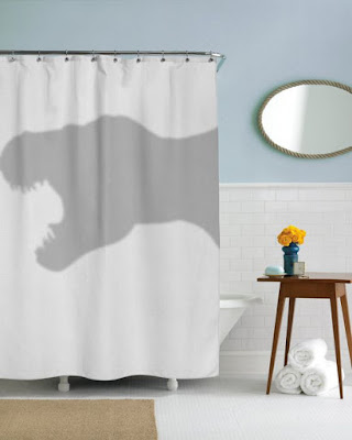 3D bathroom curtains for funny shower