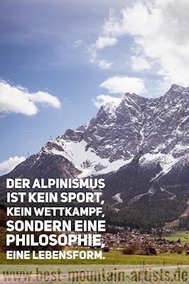 """wander-zitate  """"Der Alpinismus ist kein Sport, kein Wettkampf, sondern eine Philosophie, eine Lebensform."""", Cesare Maestri"""