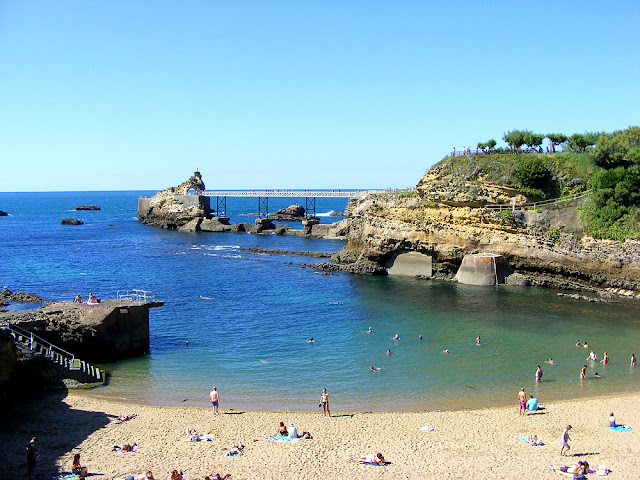Rocher de la vierge, Biarritz. Pyrennees-Atlantiques. France. Photographed by Susan Walter. Tour the Loire Valley with a classic car and a private guide.