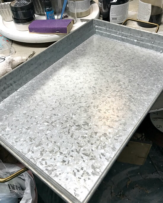 Make a DIY Personalized Galvanized Tray