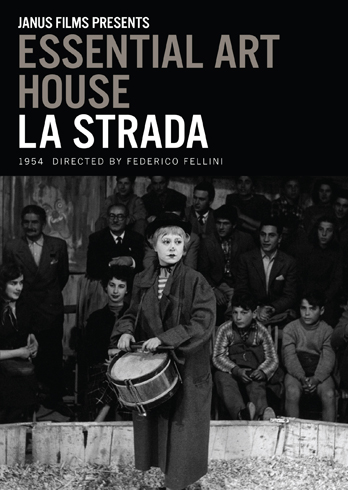 la strada, directed by federico fellini, giulietta masina as gelsomina plays the drum