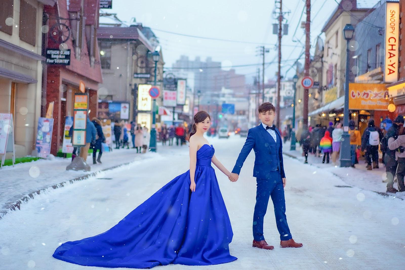 北海道婚紗/日本海外婚紗/下雪/小樽/札幌/雪天使/雪地婚紗/世界最美的北海道雪景婚紗/台北海外婚紗推薦/瑪朵婚紗